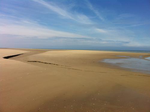 De uitgestrekte stranden van Renesse met de beroemde landtong